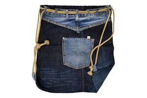 Unikat: Gymbag Denim beige - Turnbeutel aus Jeans - Second Hound