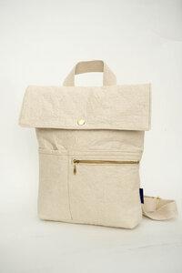 vegan Backpack Myrto small pinatexlove broken white - ein garten Studios