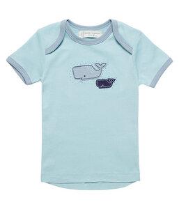 Baby T-Shirt hellblau u. lachs Bio Baumwolle - sense-organics