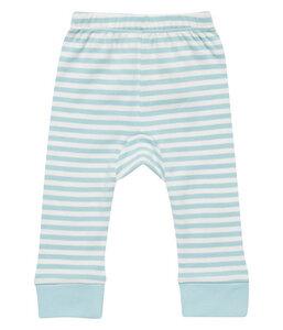 Baby Leggings hellblau u. lachs geringelt Ökologisch - sense-organics