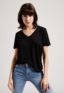 Damen Tencel T-Shirt mit V-Ausschnitt, 100% Tencel - PHYNE