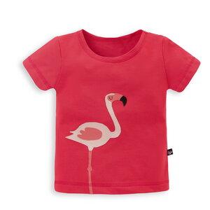 Kinder T-Shirt mit Applikation Flamingo - internaht