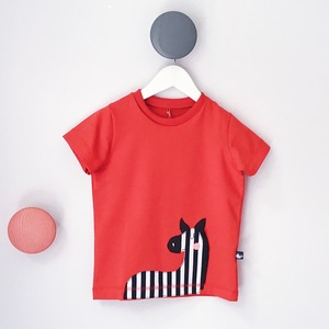 Kinder T-Shirt mit Zebra-Applikation - internaht