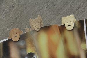 Lesezeichen aus Holz, Handgefertigtes 3er-Set mit Tiermotiven - BY COPALA