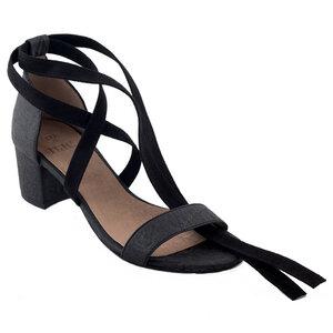 Sandaletten Clau Pinatex schwarz - NAE
