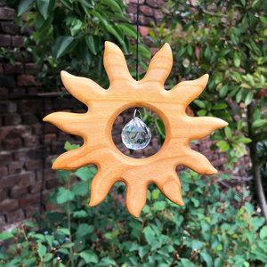 Fensterdeko kleine Sonne mit Kristall - Mitienda Shop