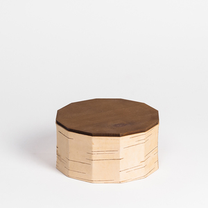Gebäck- und Keksdose / Vorratsdose aus Birkenrinde: ø19x10cm - MOYA Birch Bark