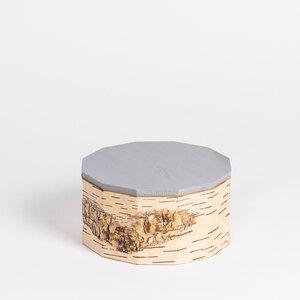 Gebäck- und Keksdose / Vorratsbehälter aus Birkenrinde: ø19x10cm - MOYA Birch Bark