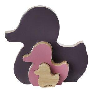 Hevea Ente Kawan - Steckpielzeug aus Holz (Rubberwood) - 2 Farben - Hevea