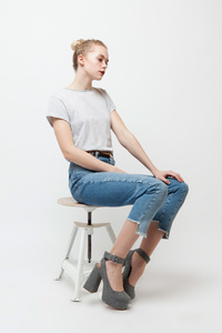 HALIX, Vintage T-Shirt für Frauen White Streifen - Green-Shirts