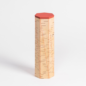 Spaghettidose mit Ziernaht / Vorratsdose aus Birkenrinde: ø9x30cm - MOYA Birch Bark