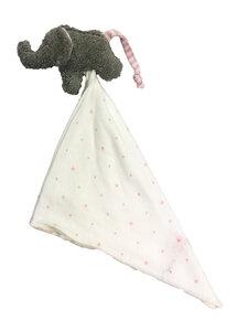 "Schmusetuch Greifling ""Elefant"" ,ELT-26, Farbe :grau, aus Bio-Baumwolle kbA - PAT & PATTY"