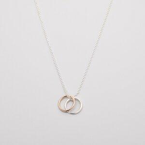 Kette 'bicolor circle'  - fejn jewelry