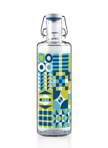 "soulbottle 1,0l • Trinkflasche aus Glas • ""Patchwork""  - soulbottles"
