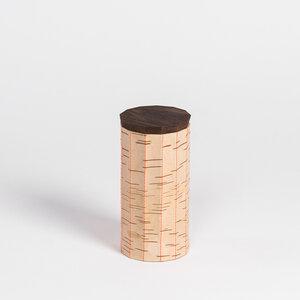 Müslidose mit Ziernaht / Vorratsdose aus Birkenrinde: ø9x17cm - MOYA Birch Bark