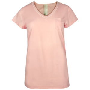 Fairtrade Shirt 1/4 Arm, lachs und ecru-melange - comazo|earth