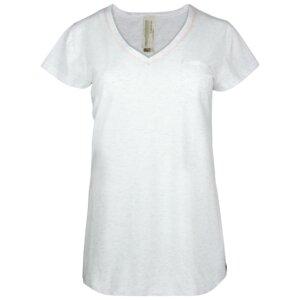 Fairtrade Shirt 1/4 Arm, lachs und ecru-melange - comazo earth
