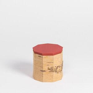 Teedose mit Ziernaht / Vorratsdose aus Birkenrinde: ø12x12cm - MOYA Birch Bark