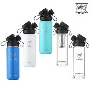 Geschirrspüler-tauglich: 5 JuNiki´s Trinkflaschen aus Edelstahl & Glas - JN JuNiki's