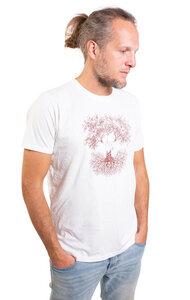 """Shirt aus Biobaumwolle Fairwear für Herren """"Fusion"""" in Washed White - Life-Tree"""