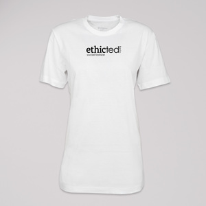 "Logo T-Shirt ""ethicted Berlin"", 100% Bio-Baumwolle, Eco-Print - ethicted"