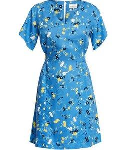 Kurzarm-Kleid - Shelli Floral Dress - Blue - People Tree