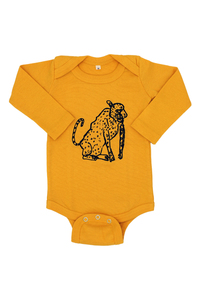 "Kipepeo Baby-Body ""Leopard"". Handmade in Kenya - Kipepeo-Clothing"