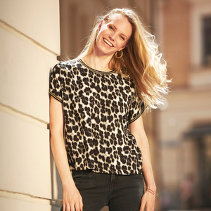 EcoVero T-Shirt Bluse Choice Leo Print - GreenBomb