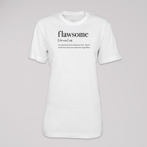 "T-Shirt ""flawsome"", 100% Bio-Baumwolle, Eco-Print - ethicted"