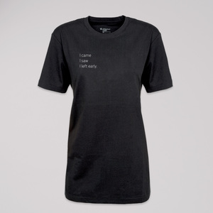 """T-Shirt """"left early"""", 100% Bio-Baumwolle, Eco-Print - ethicted"""