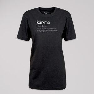 "T-Shirt ""karma"", 100% Bio-Baumwolle, Eco-Print - ethicted"