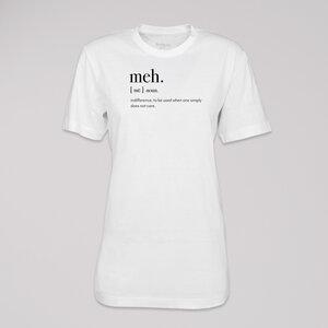 "T-Shirt ""meh"", 100% Bio-Baumwolle, Eco-Print - ethicted"