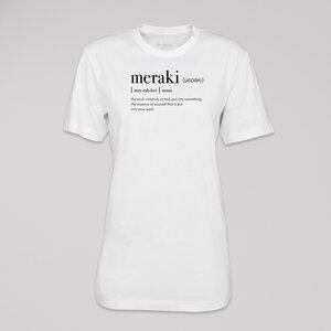"""T-Shirt """"meraki"""", 100% Bio-Baumwolle, Eco-Print - ethicted"""