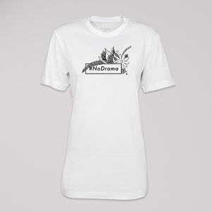 "T-Shirt ""no Drama"", 100% Bio-Baumwolle, Eco-Print - ethicted"