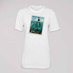 """T-Shirt """"save the ocean"""", 100% Bio-Baumwolle, Eco-Print - ethicted"""