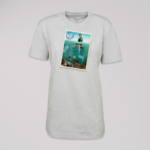 "T-Shirt ""save the ocean"", 100% Bio-Baumwolle, Eco-Print - ethicted"