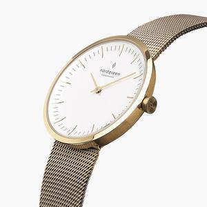 Armbanduhr InfinityGold - Mesharmband Gold - Nordgreen Copenhagen