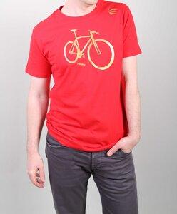 BIKE3 Herren T-Shirt rot / Bio Baumwolle / Kurzarm - ROCKBODY