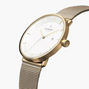 Armbanduhr Philosopher Gold - Mesharmband Gold - Nordgreen Copenhagen
