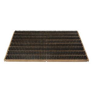Fußabtreter Buchenholz Walnussfarben geölt ca. 59 cm x 38,5 cm x 2 cm - NATUREHOME