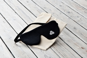Schlafmaske glatte  Bio Baumwolle - Schlafprojekte Lenz