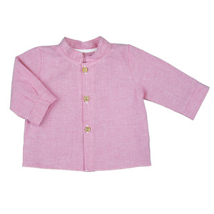 Cooles Jungs-Hemd (jeansblau od. flamingo-rosé) in Leinenoptik (54480) - carl&lina