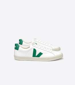 Sneaker Damen - Esplar Low Logo Leather - Extra White Emeraude - Veja