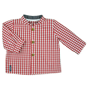 Klassisch schönes Babyhemd (kirsche od. navy) mit Stehkragen (55880) - carl&lina