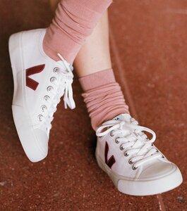 Sneaker Damen - Wata Canvas White Marsala  - Veja