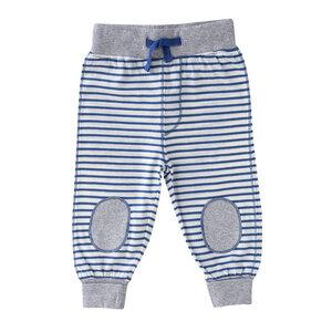Baby u. Kinder Hose blau geringelt Bio - People Wear Organic