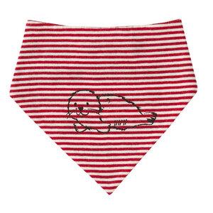 Baby Dreieckstuch rot geringelt Öko People Wear Organic - People Wear Organic