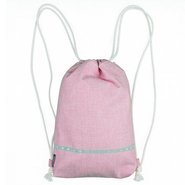 Baby-rucksack/turnbeutel (Jeansblau Od. Rosa) Gefüttert m. Kordelzug