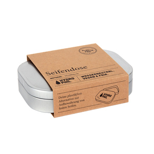 Umweltfreundliche Seifendose aus Weißblech für feste Seife - HYDROPHIL