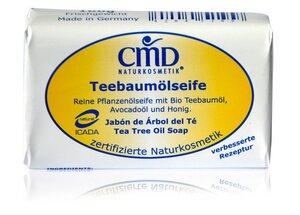 CMD Teebaumölseife reine Pflanzenölseife mit Bio Teebaumöl 100g - CMD Naturkosmetik